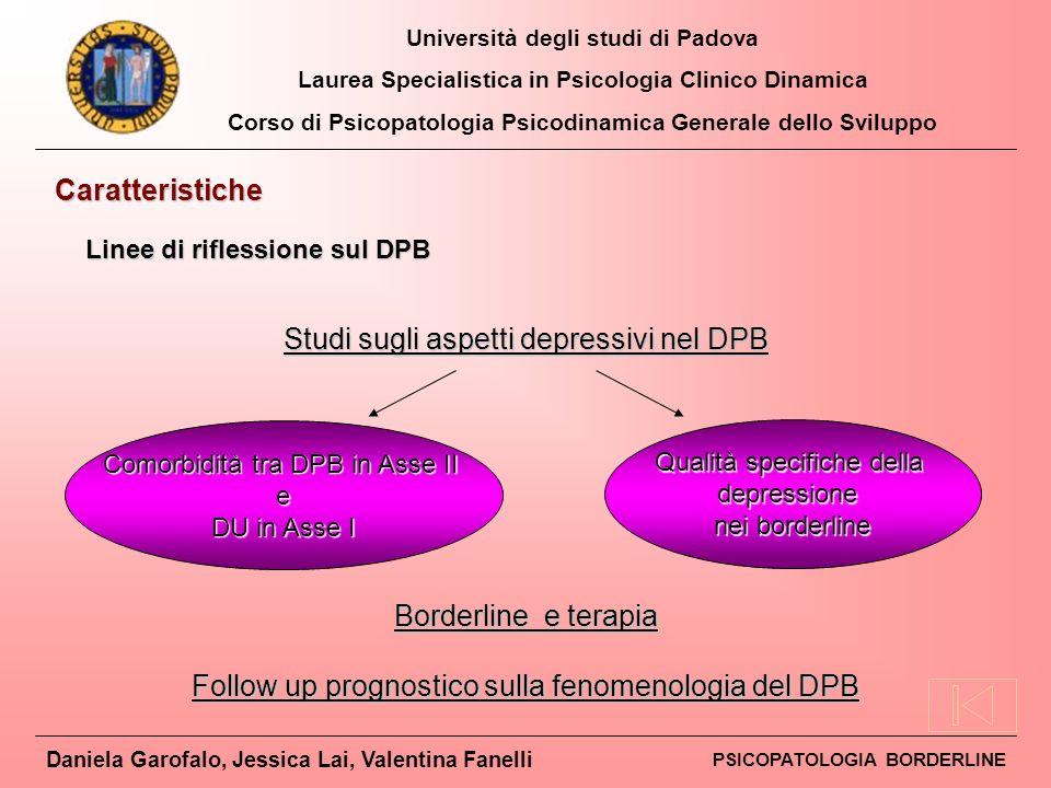 Studi sugli aspetti depressivi nel DPB