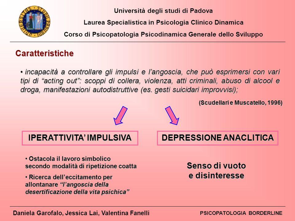 IPERATTIVITA' IMPULSIVA DEPRESSIONE ANACLITICA
