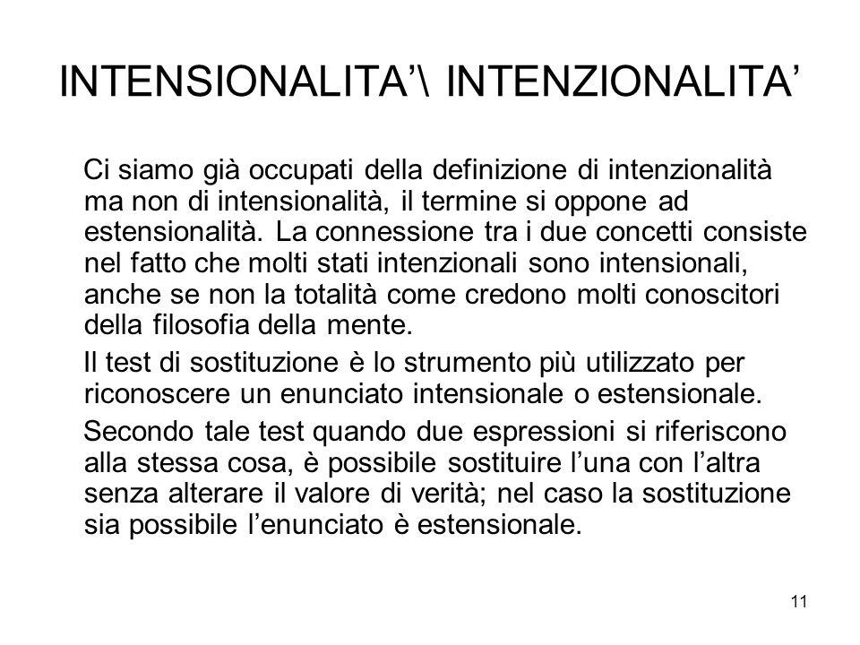 INTENSIONALITA'\ INTENZIONALITA'