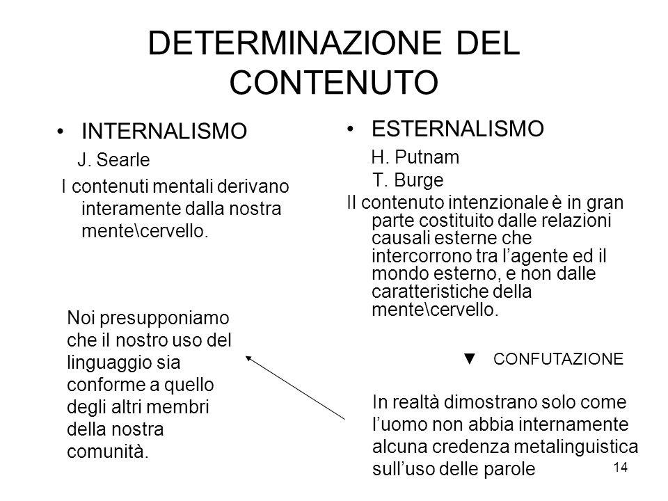DETERMINAZIONE DEL CONTENUTO