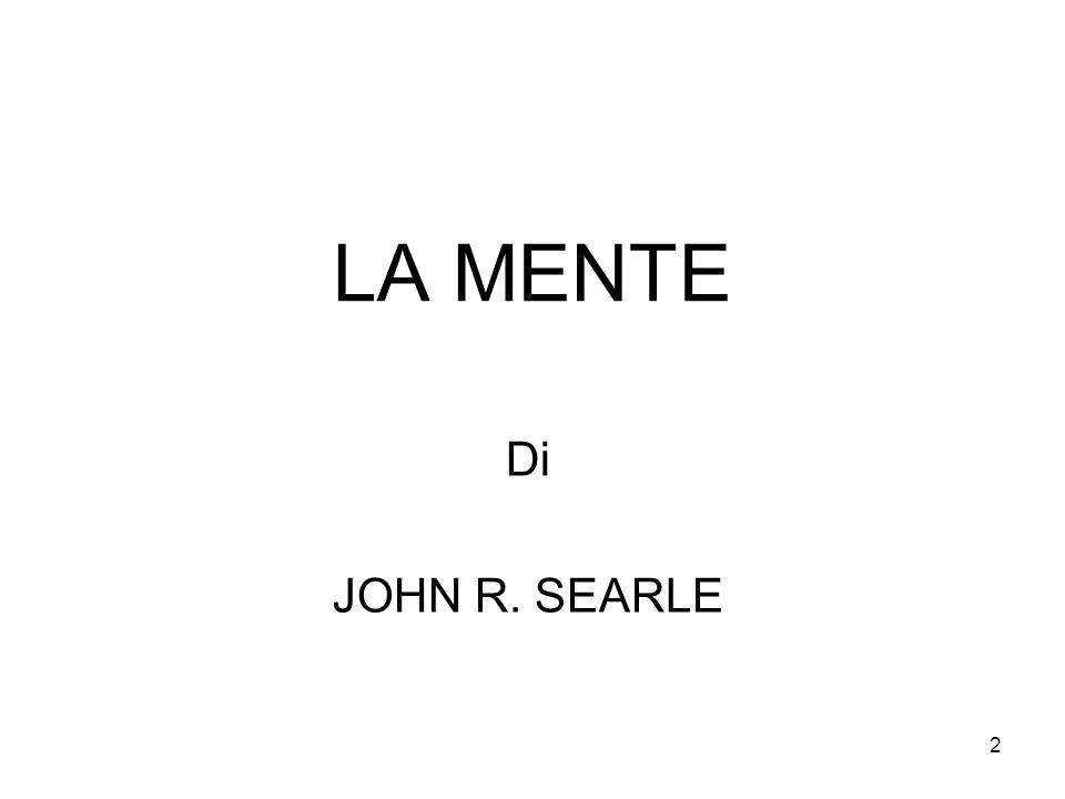 LA MENTE Di JOHN R. SEARLE
