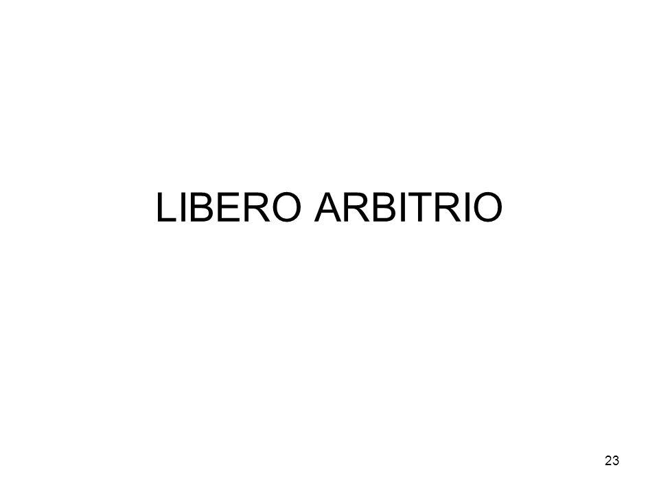 LIBERO ARBITRIO