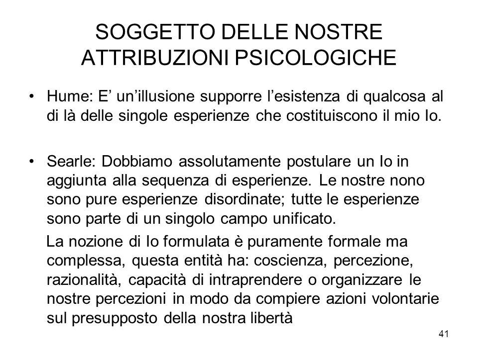 SOGGETTO DELLE NOSTRE ATTRIBUZIONI PSICOLOGICHE