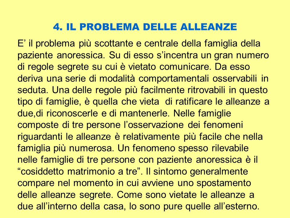 4. IL PROBLEMA DELLE ALLEANZE