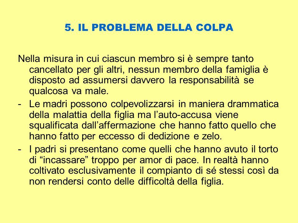 5. IL PROBLEMA DELLA COLPA