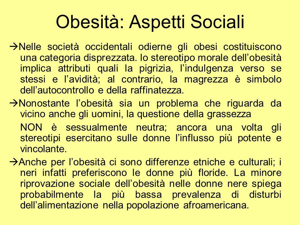 Obesità: Aspetti Sociali