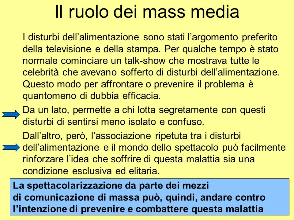 Il ruolo dei mass media