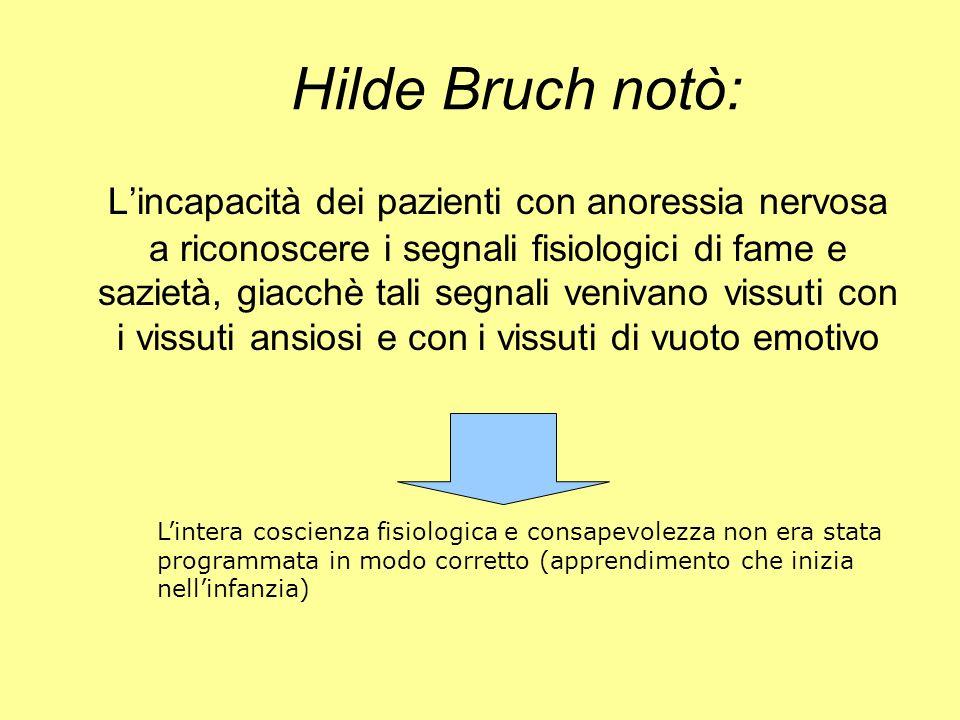 Hilde Bruch notò: