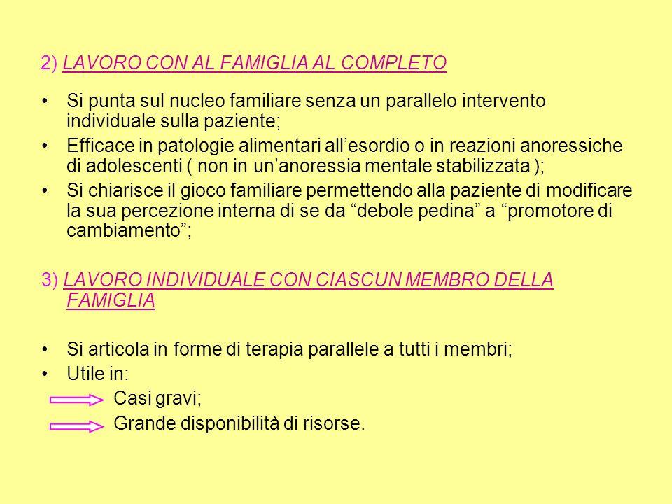 2) LAVORO CON AL FAMIGLIA AL COMPLETO