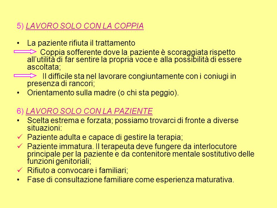 5) LAVORO SOLO CON LA COPPIA