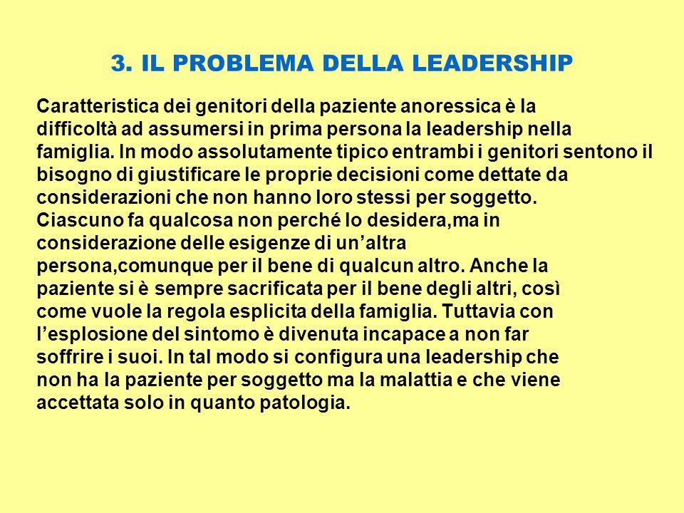 3. IL PROBLEMA DELLA LEADERSHIP