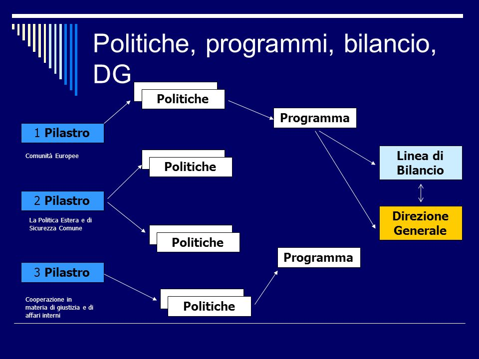 Politiche, programmi, bilancio, DG