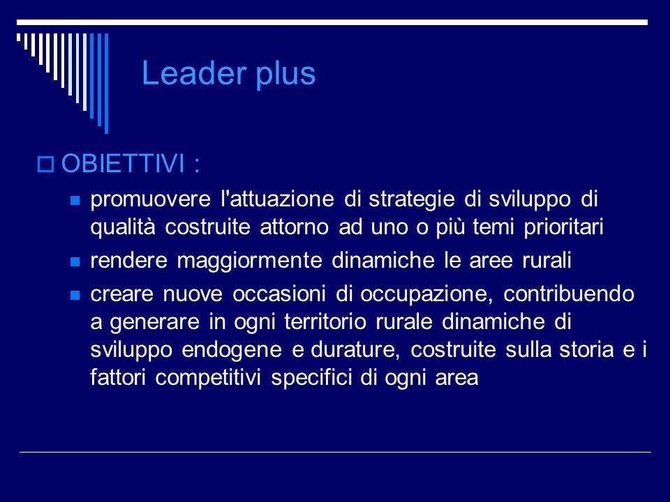 Leader plus OBIETTIVI :