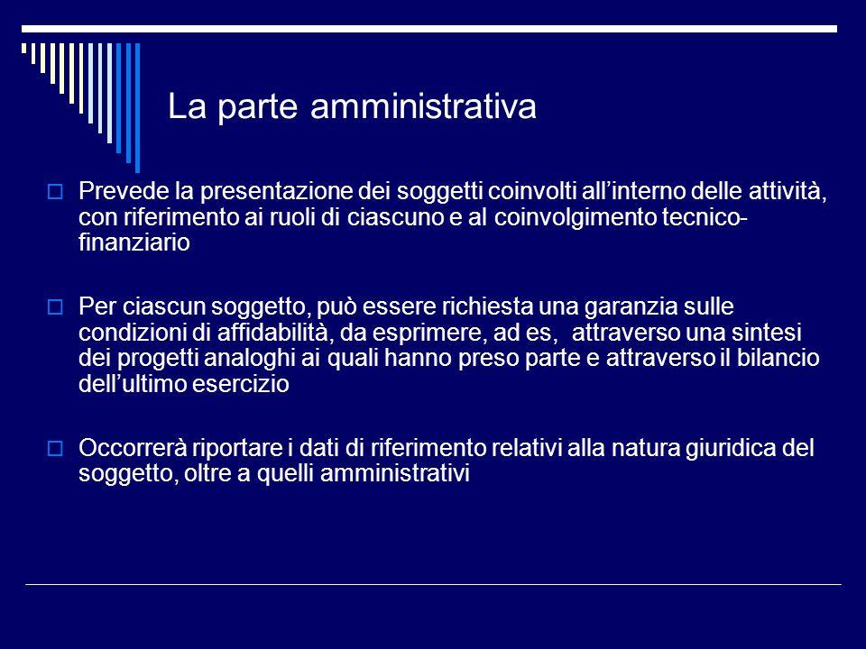 La parte amministrativa