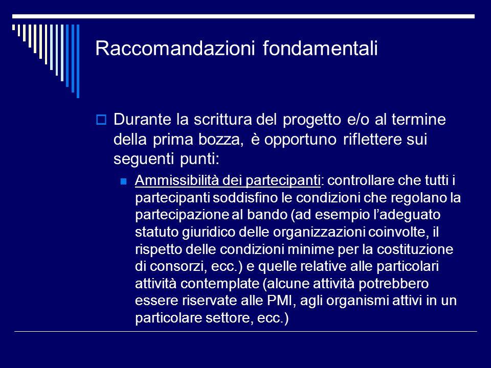 Raccomandazioni fondamentali