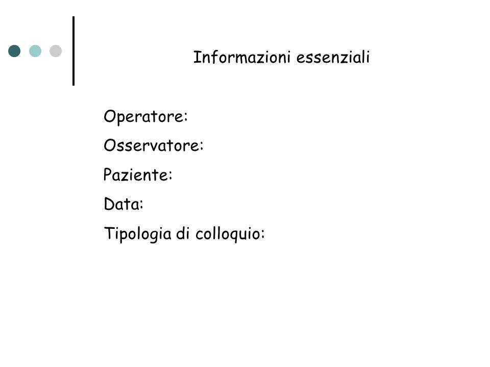 Informazioni essenziali