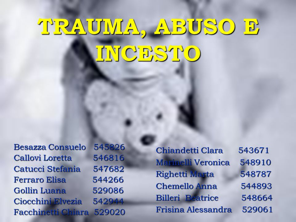 TRAUMA, ABUSO E INCESTO Besazza Consuelo 545826