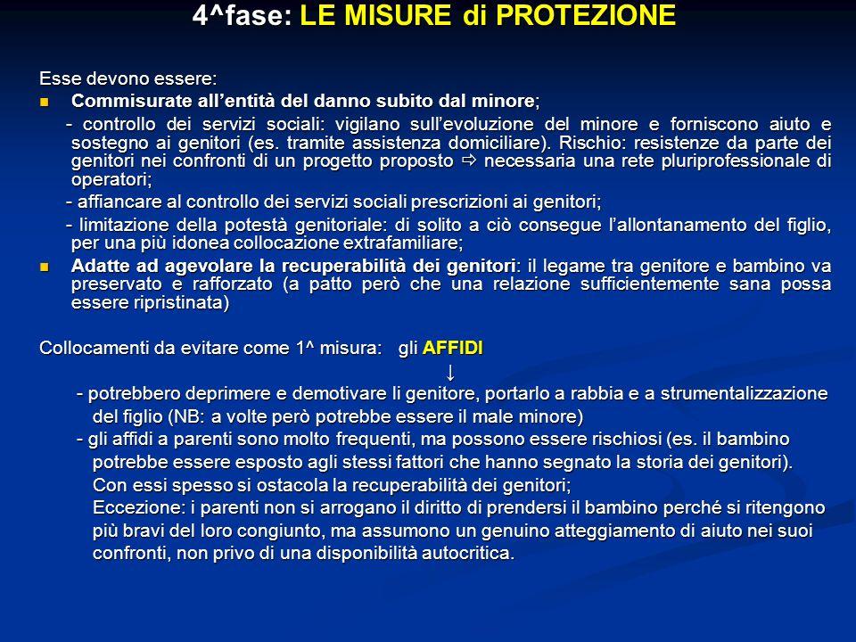 4^fase: LE MISURE di PROTEZIONE