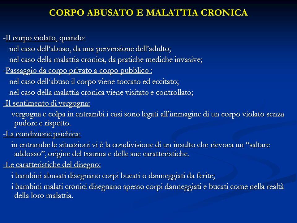 CORPO ABUSATO E MALATTIA CRONICA