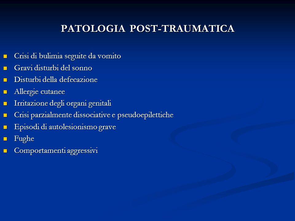 PATOLOGIA POST-TRAUMATICA