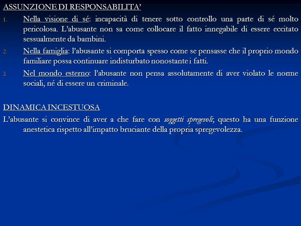 ASSUNZIONE DI RESPONSABILITA'