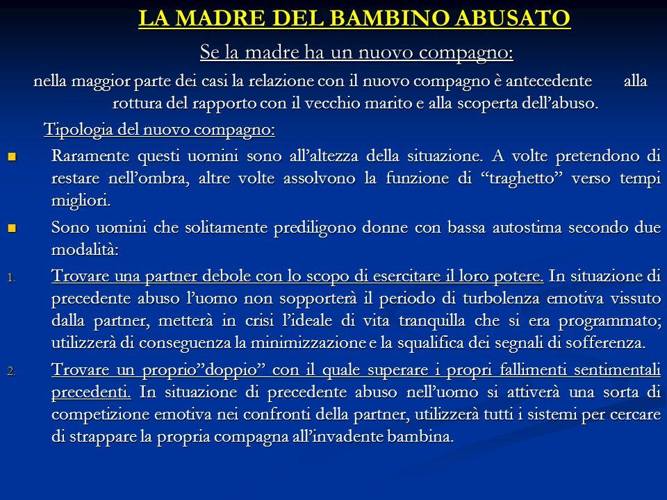 LA MADRE DEL BAMBINO ABUSATO