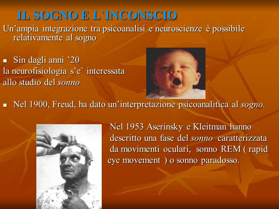 IL SOGNO E L`INCONSCIO Un'ampia integrazione tra psicoanalisi e neuroscienze è possibile relativamente al sogno.