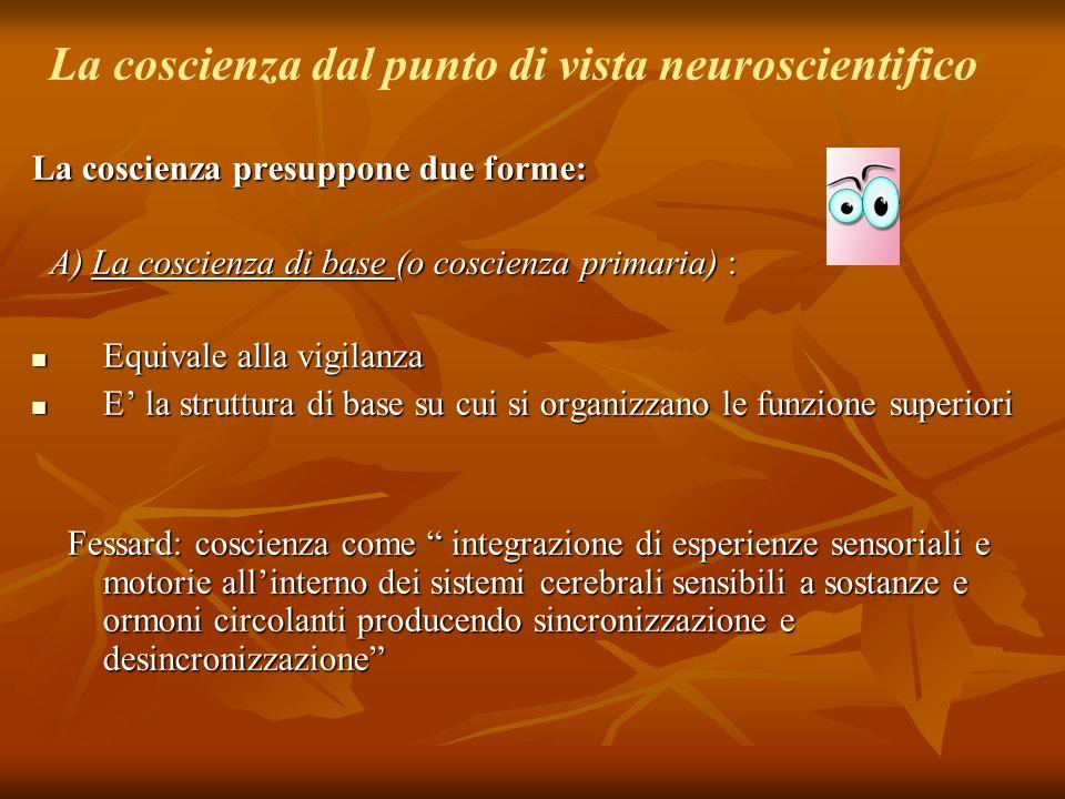 La coscienza dal punto di vista neuroscientifico