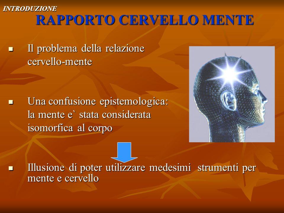 RAPPORTO CERVELLO MENTE