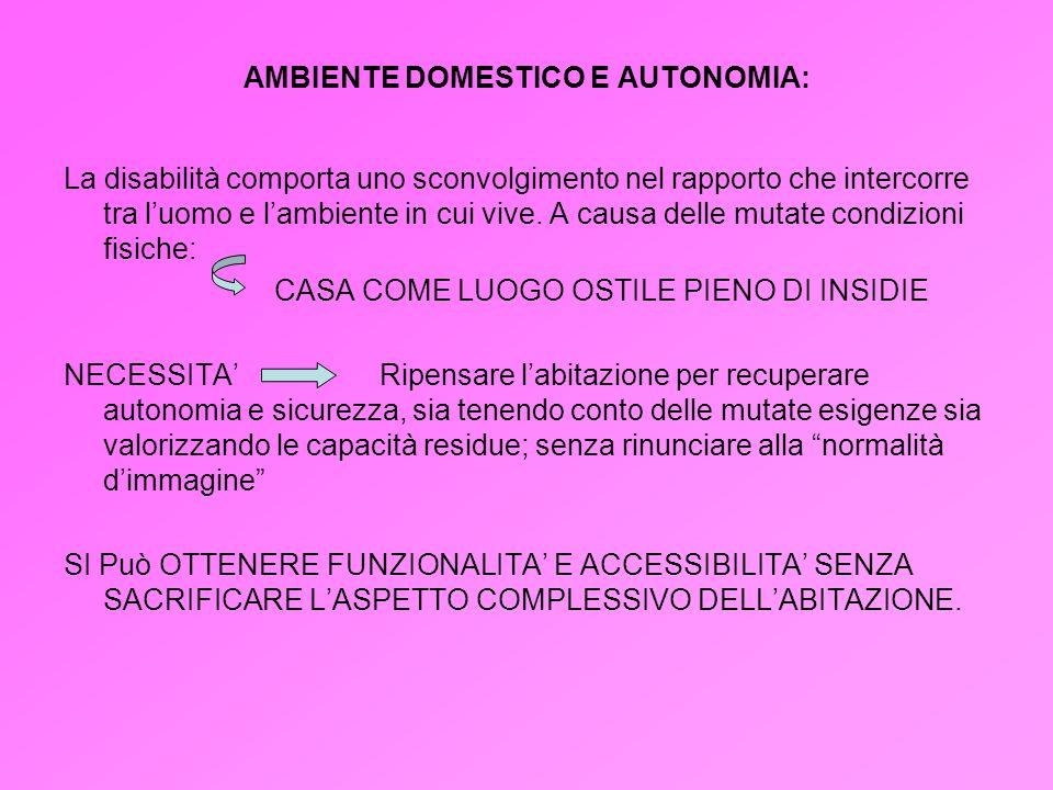 AMBIENTE DOMESTICO E AUTONOMIA: