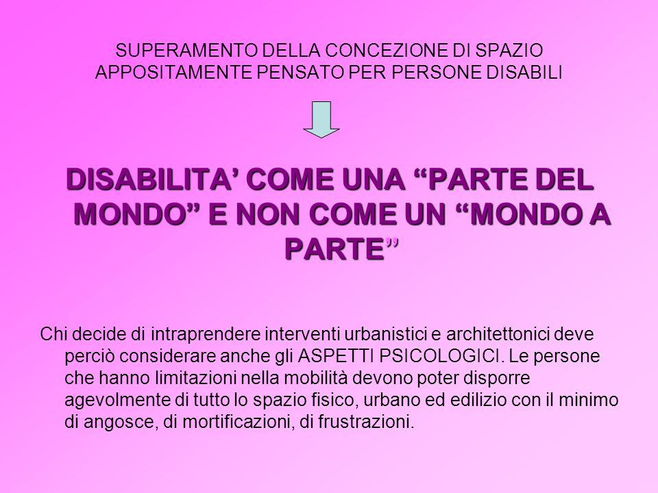 DISABILITA' COME UNA PARTE DEL MONDO E NON COME UN MONDO A PARTE