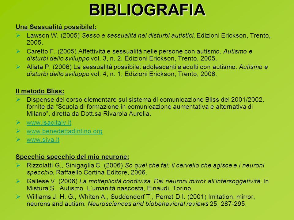 BIBLIOGRAFIA Una Sessualità possibile!: