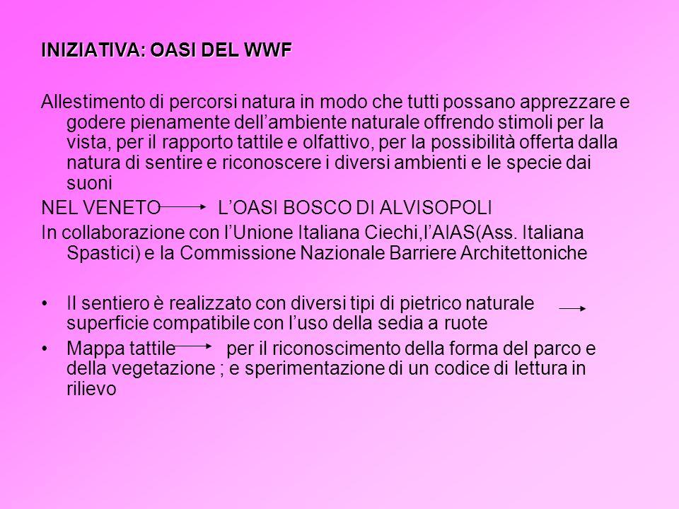INIZIATIVA: OASI DEL WWF