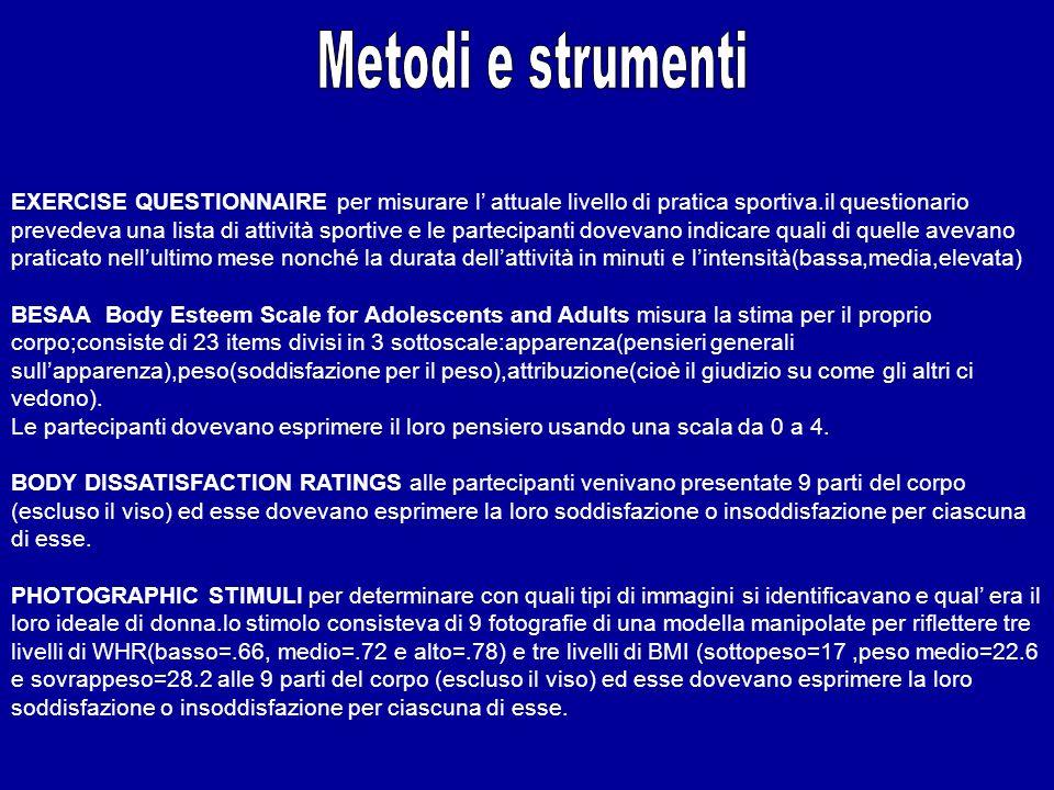 Metodi e strumenti