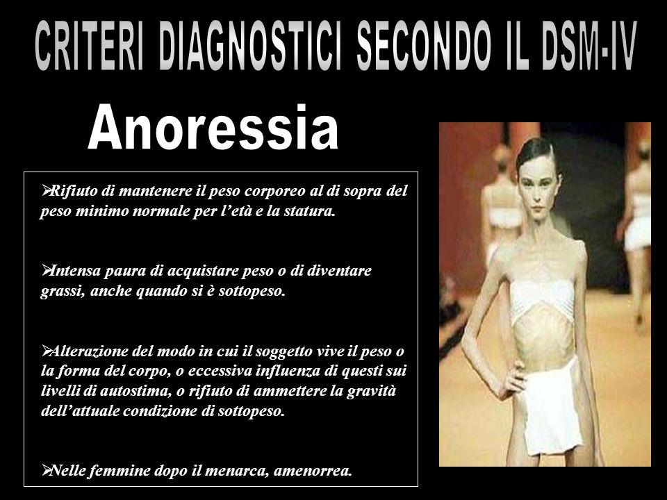 CRITERI DIAGNOSTICI SECONDO IL DSM-IV