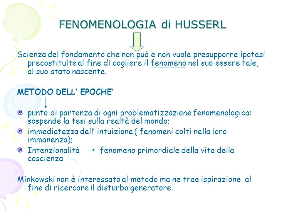 FENOMENOLOGIA di HUSSERL