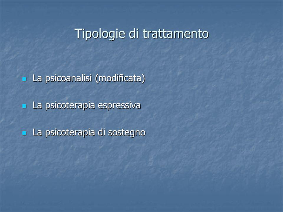 Tipologie di trattamento