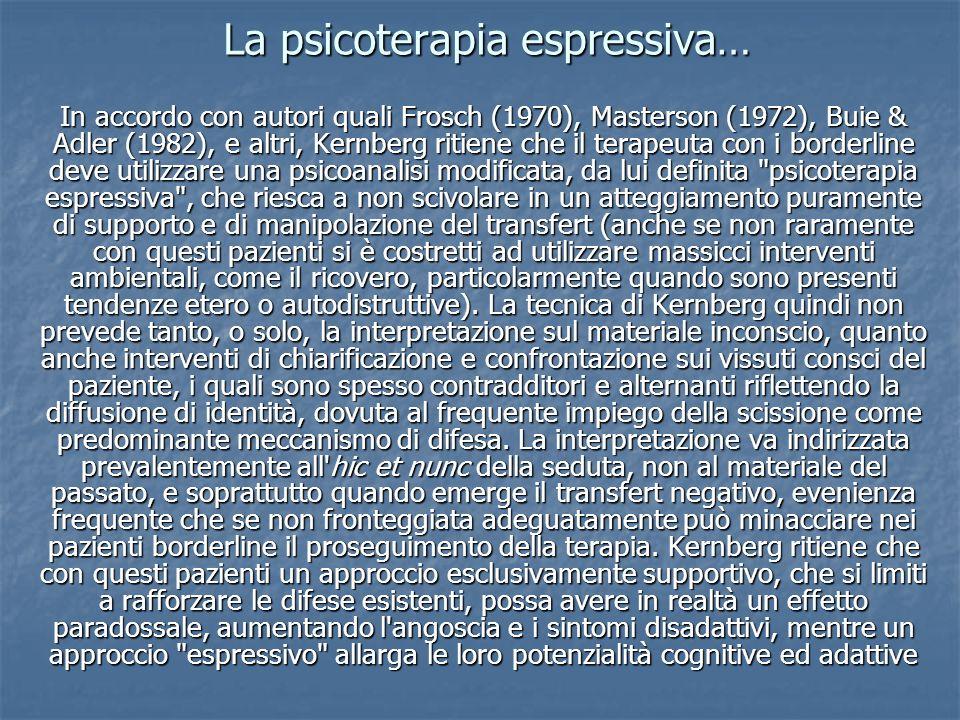La psicoterapia espressiva…