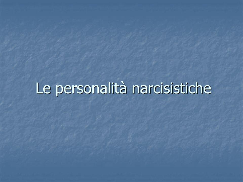 Le personalità narcisistiche