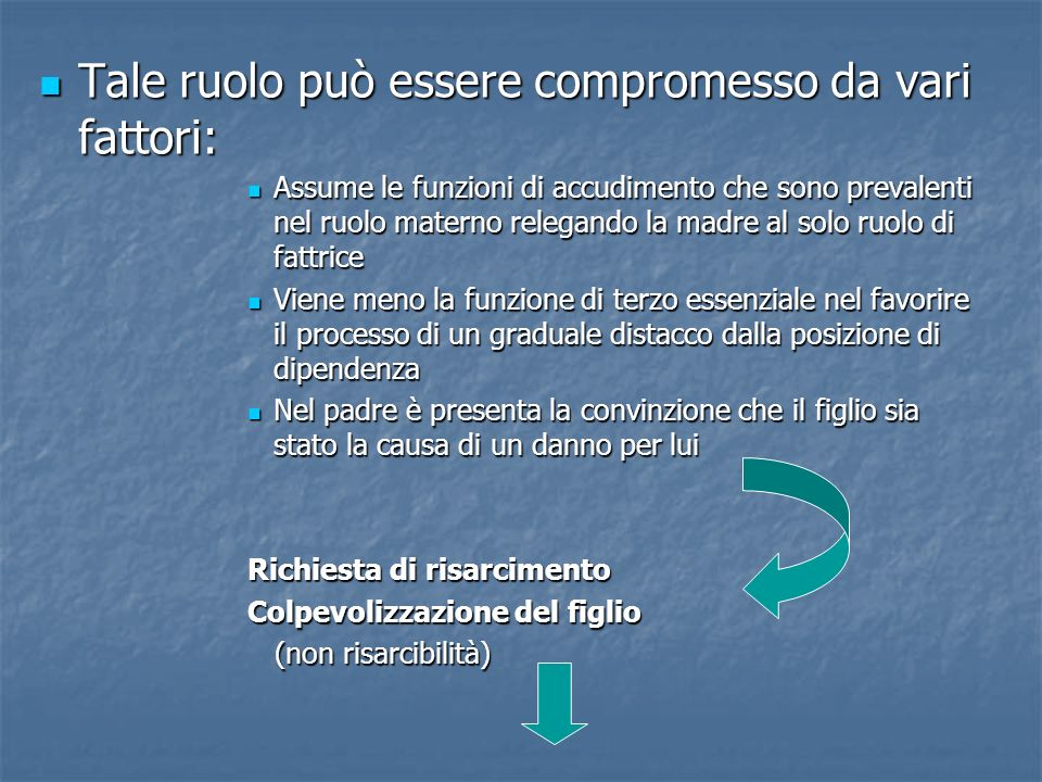 Tale ruolo può essere compromesso da vari fattori: