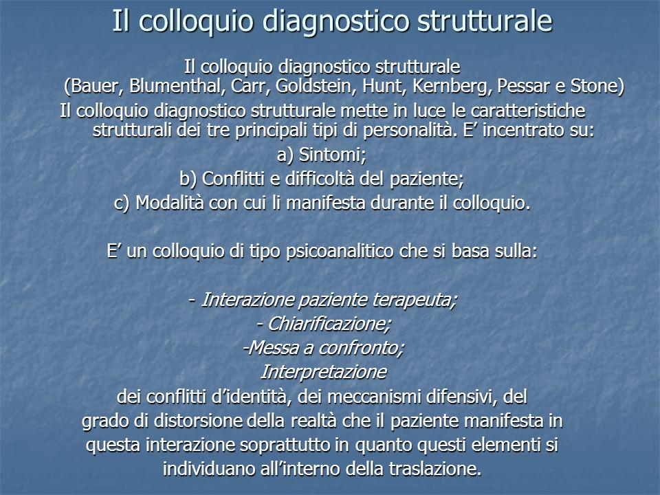 Il colloquio diagnostico strutturale