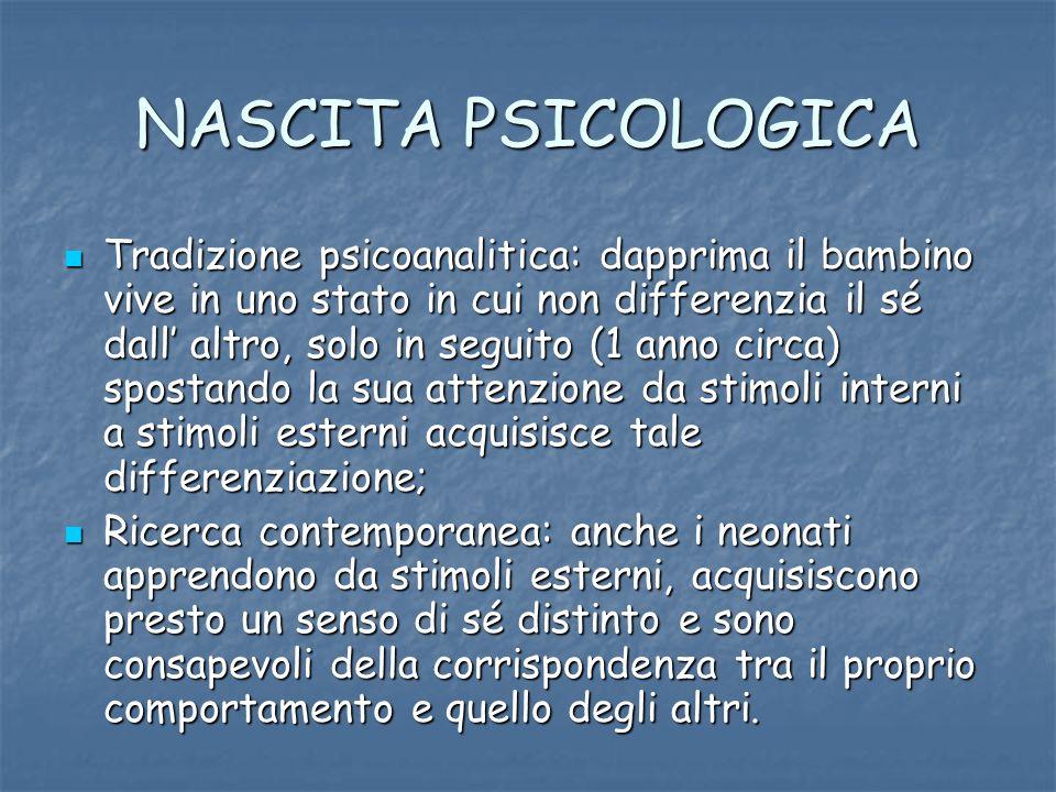 NASCITA PSICOLOGICA