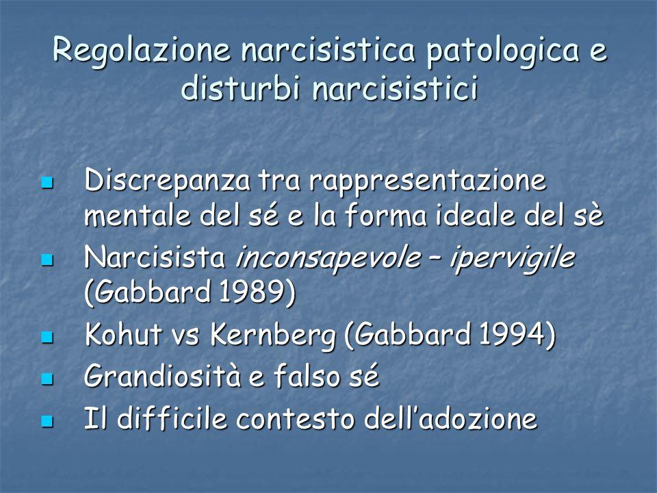 Regolazione narcisistica patologica e disturbi narcisistici