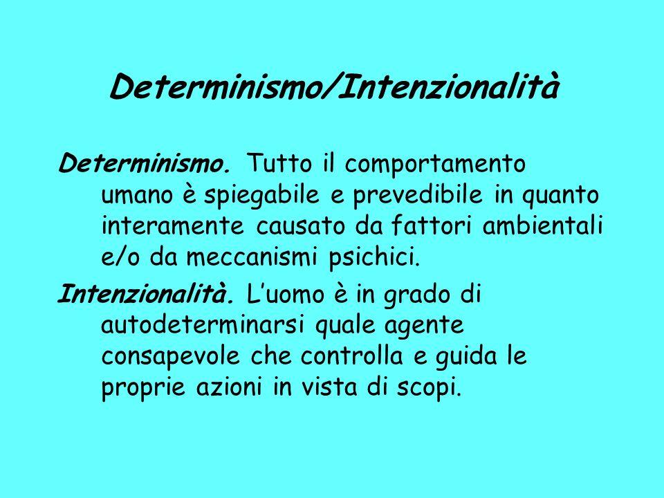 Determinismo/Intenzionalità