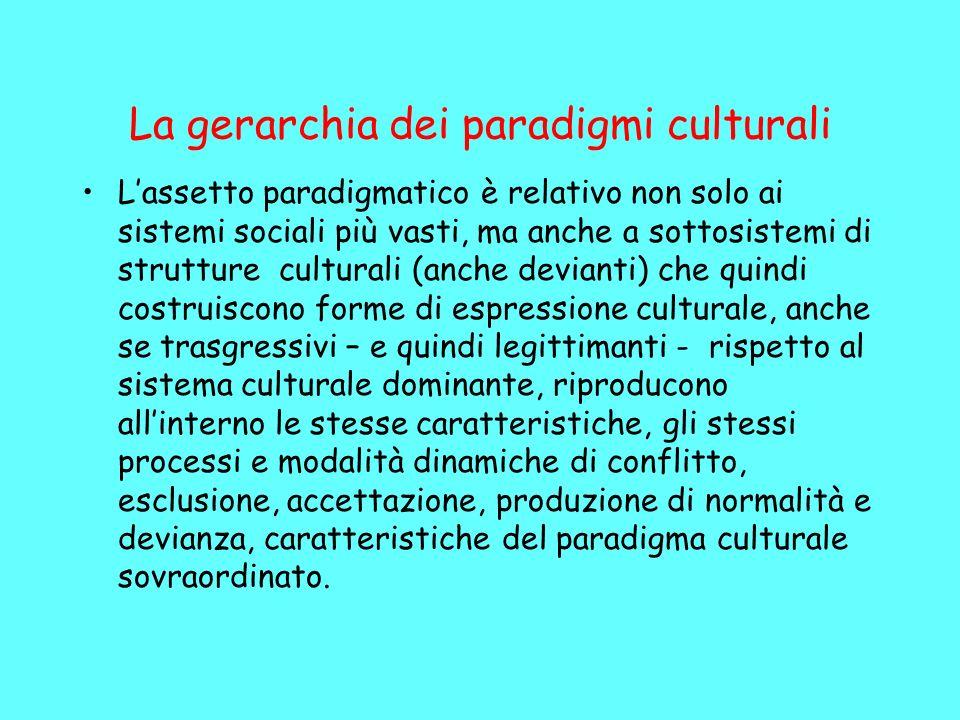 La gerarchia dei paradigmi culturali