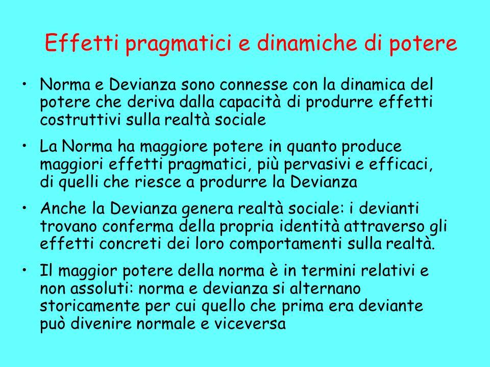 Effetti pragmatici e dinamiche di potere