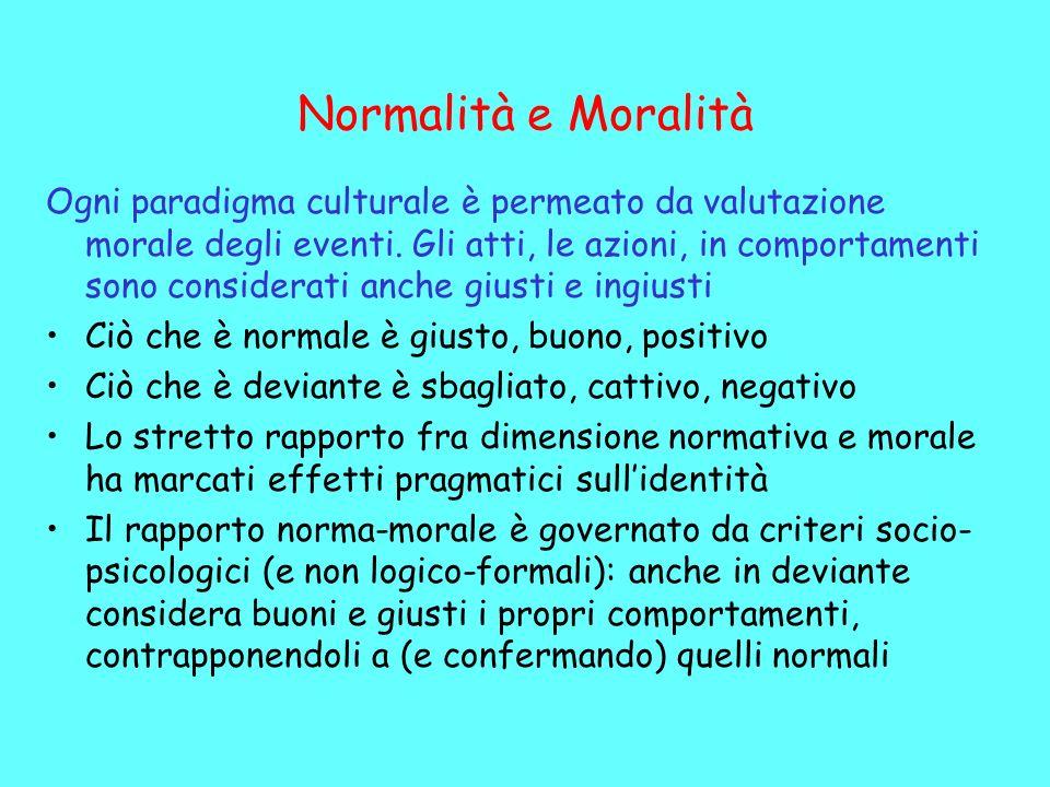 Normalità e Moralità