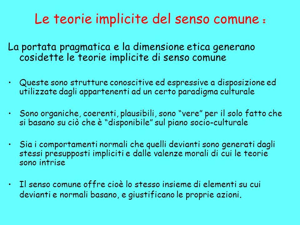 Le teorie implicite del senso comune I