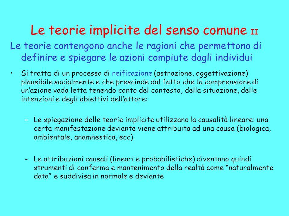 Le teorie implicite del senso comune II