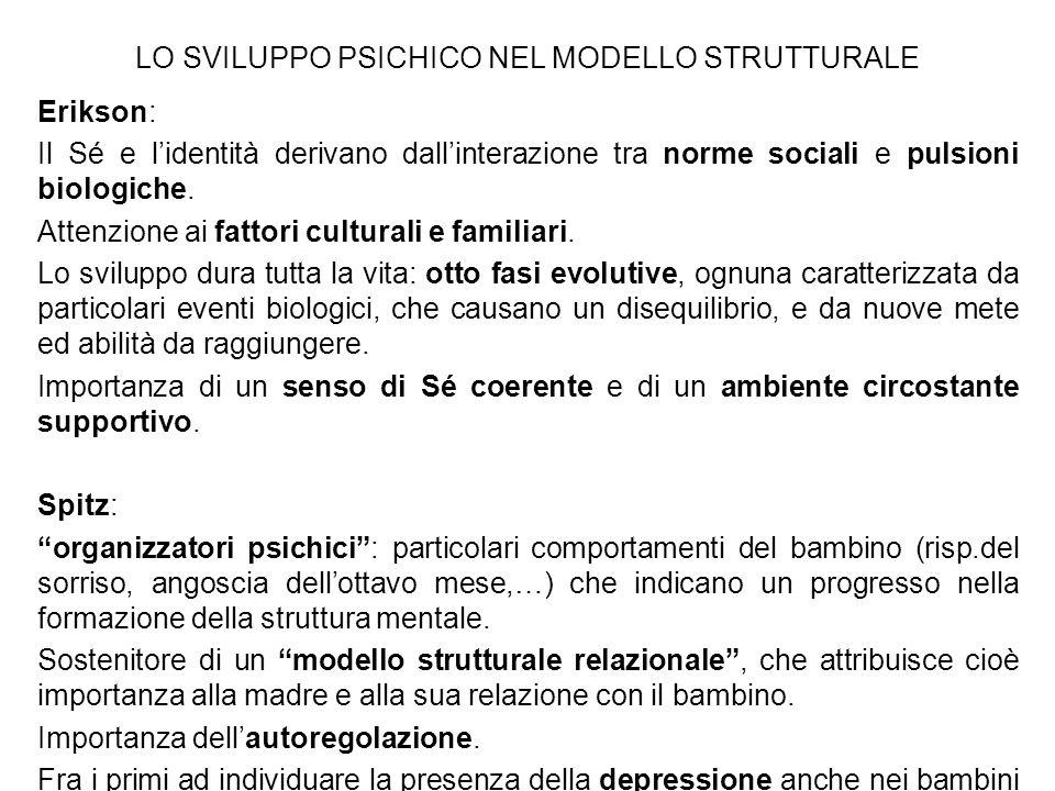 LO SVILUPPO PSICHICO NEL MODELLO STRUTTURALE